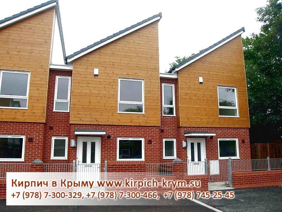 Фото одноэтажных домов из кирпича
