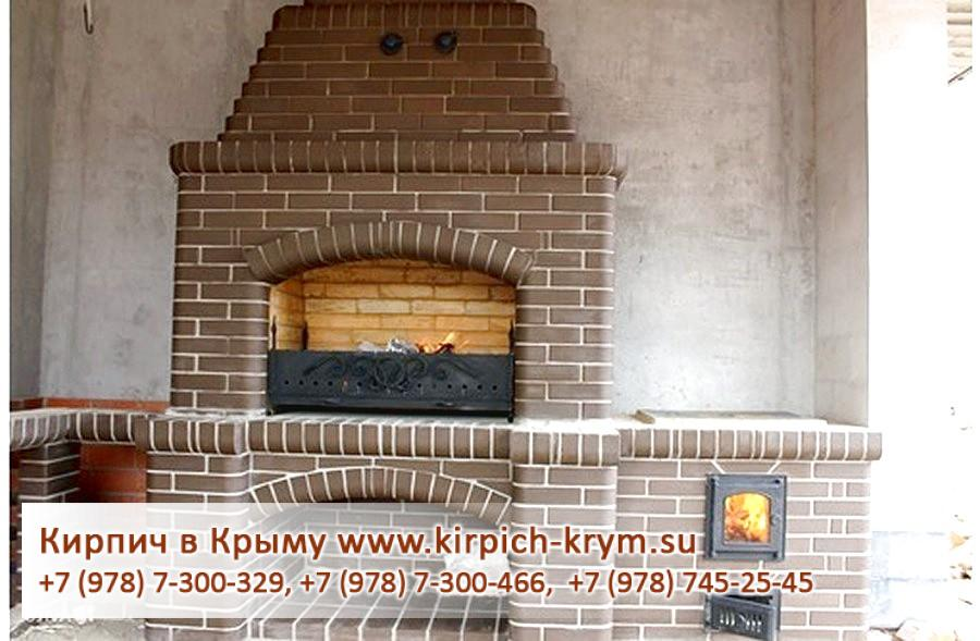Камины для дома дровяные из кирпича фото