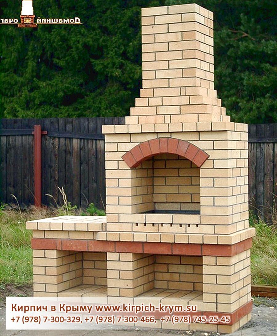 Печка камин из кирпича