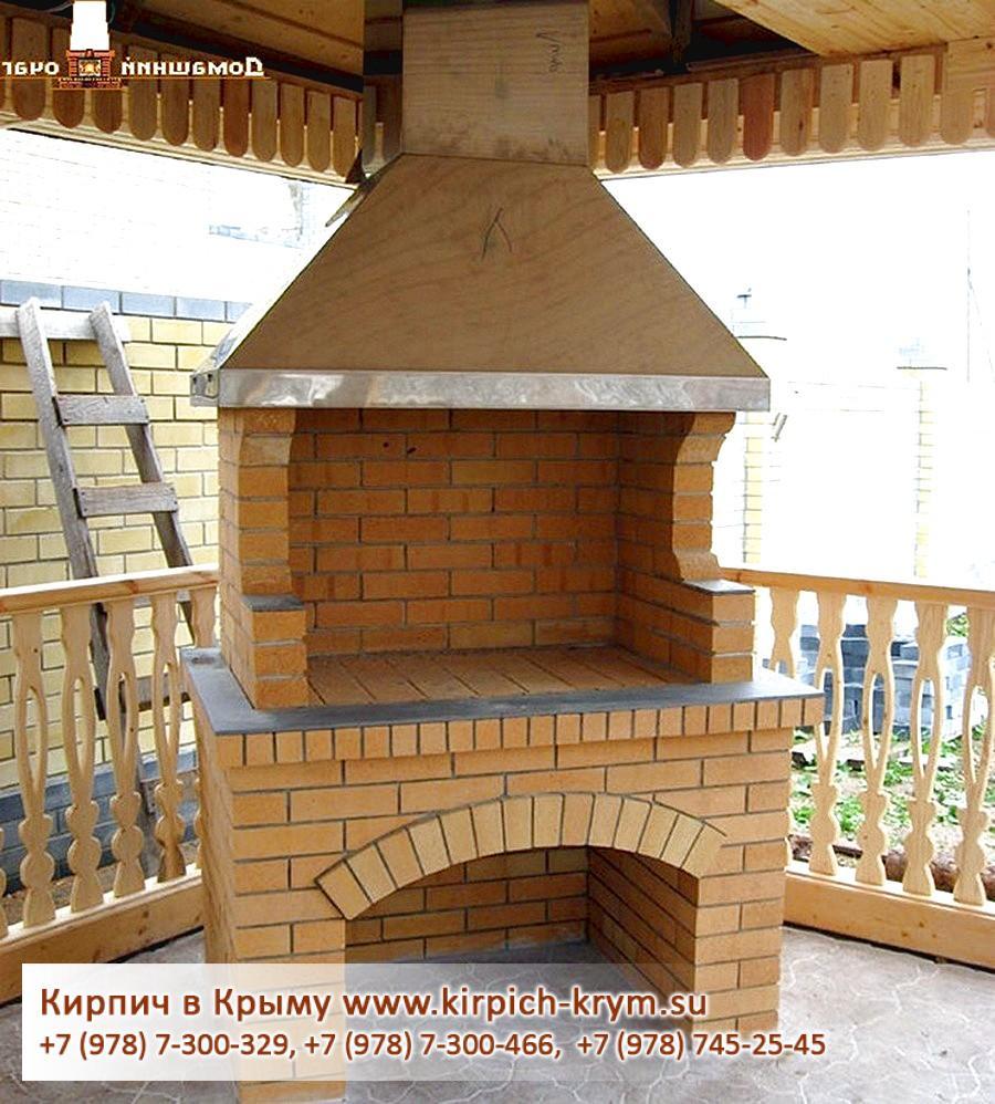 Проекты каминов из кирпича